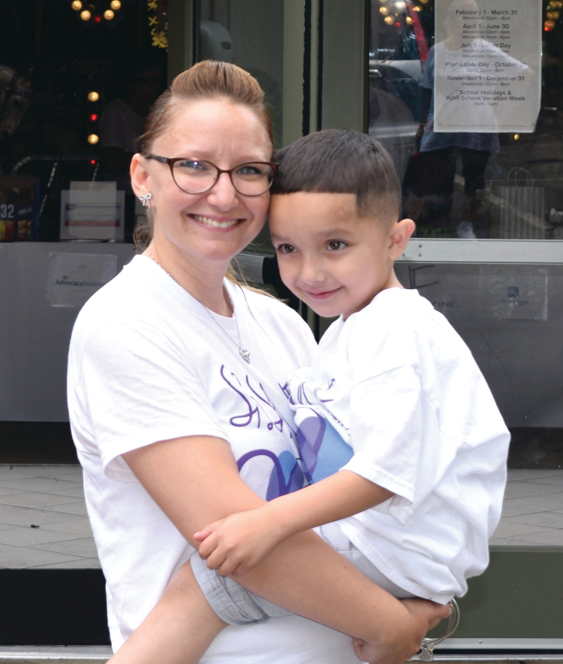 PROUD MOTHER: Nicole White and her son Kyrie were photographed last summer at the first ever Short Bowel Syndrome Foundation for Children of New England 5k, which she helped to organize and was held at Roger Williams Park.