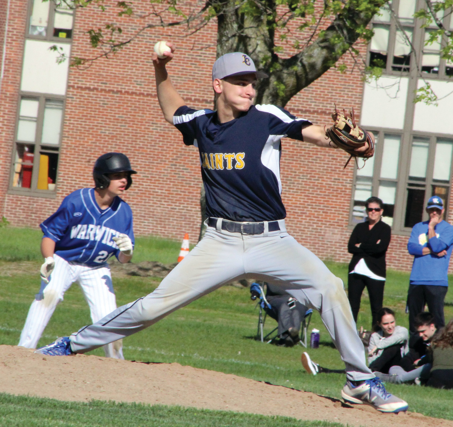 FALL BACK: Immaculate Conception's Colby Kuzman delivers a pitch against Vets on Monday.