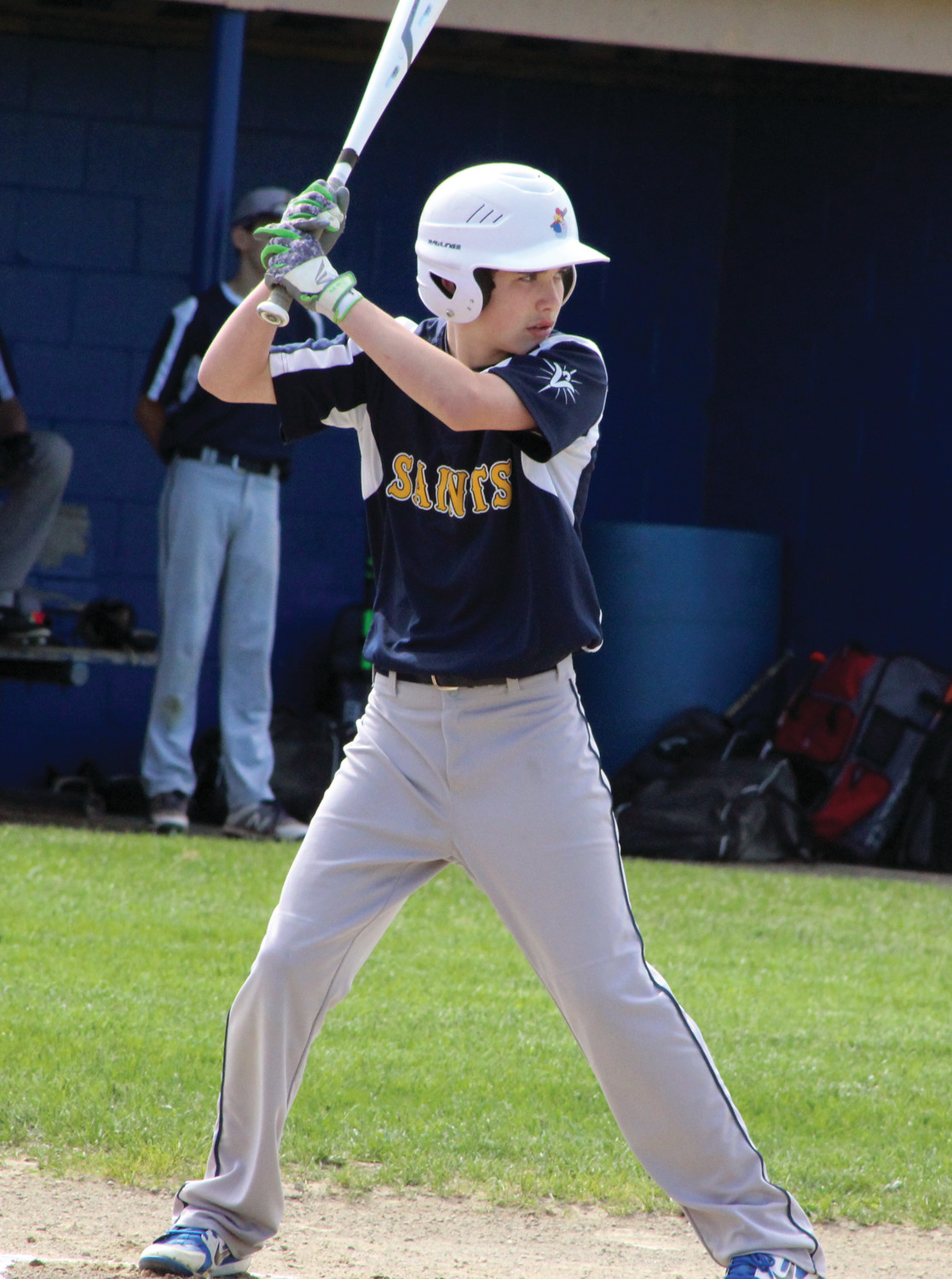 AT THE DISH: Immaculate Conception's Owen Smith bats against Vets.