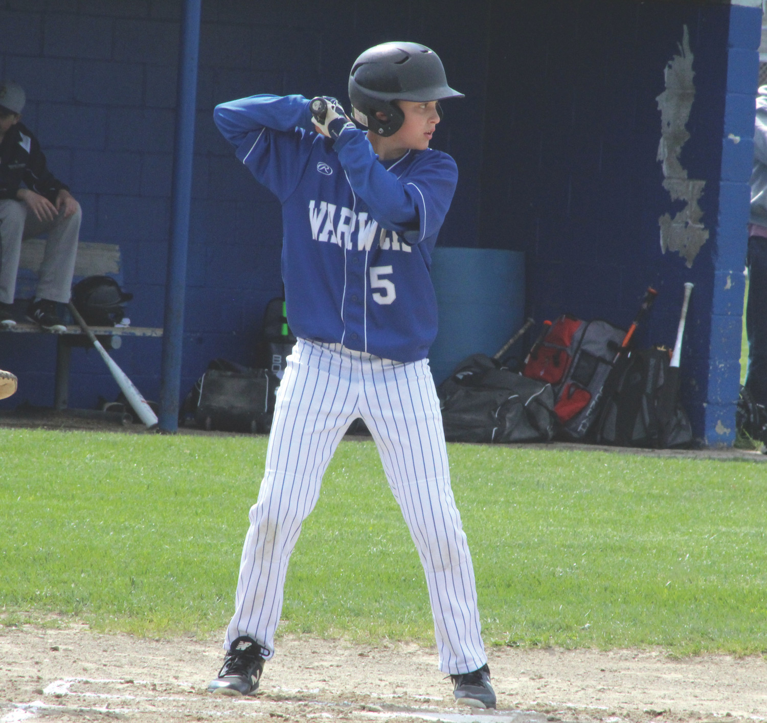 EYE ON THE BALL: Vets' Thomas D'Andrea steps up to the plate against Immaculate Conception.