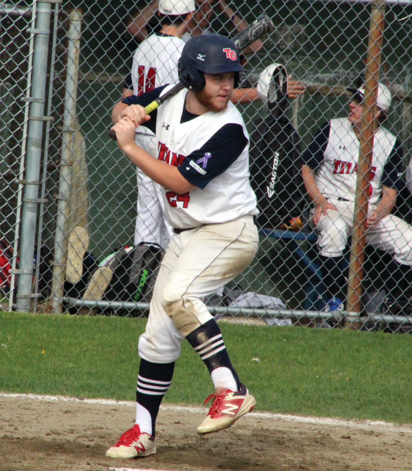 AT THE DISH: Toll Gate's Dylan Palmiotti looks to swing at the plate.