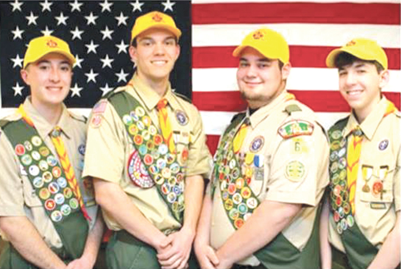 PROGRAM BOOK: At each Eagle Court Ceremony a program book is handed out with information on the new Eagle Scouts. On May 10, the following scouts celebrated their Eagle rank: Anthony Cardi, Constantine Coclin, Joshua Forgue and Daniel White.