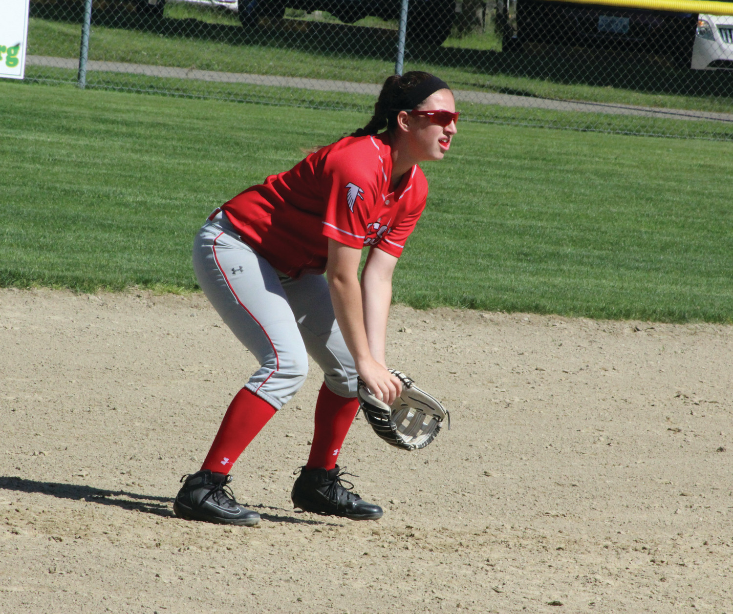 ON THE DIAMOND: Cranston West's Marissa Cushman plays shortstop. Bottom: