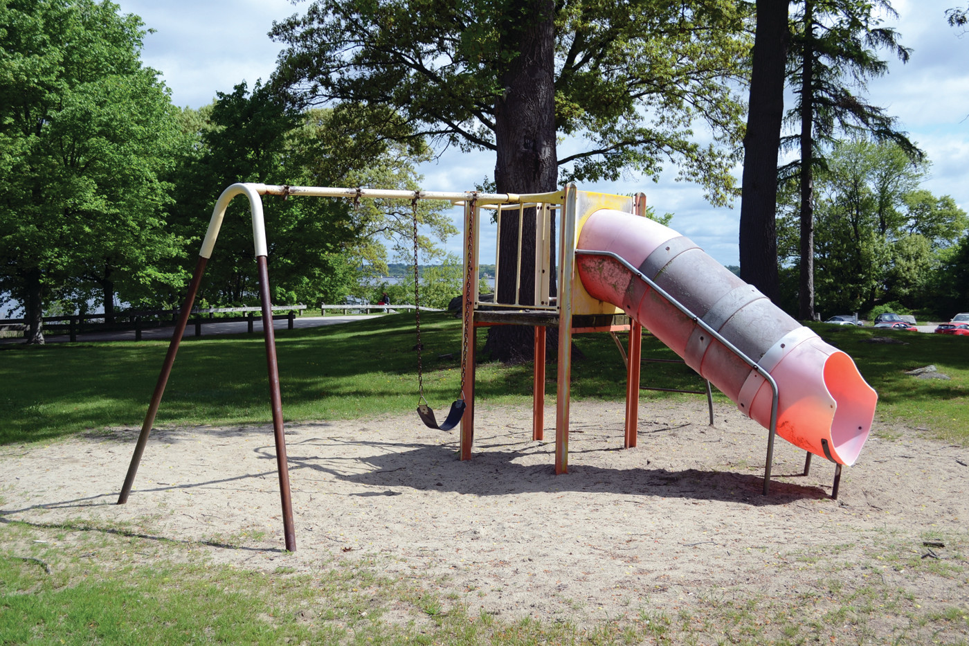 "DUE FOR AN UPGRADE: The recreational equipment at Salter Grove, which Ward 1 Councilman Richard Corley called ""decrepit,"" will soon be upgraded thanks to a $100,000 grant award from DEM."