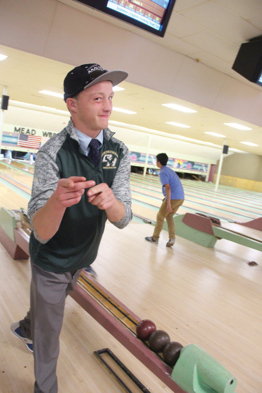IT HAD TO BE GOOD: Steve Baker was happy to be bowling, whether he was getting strikes or not.