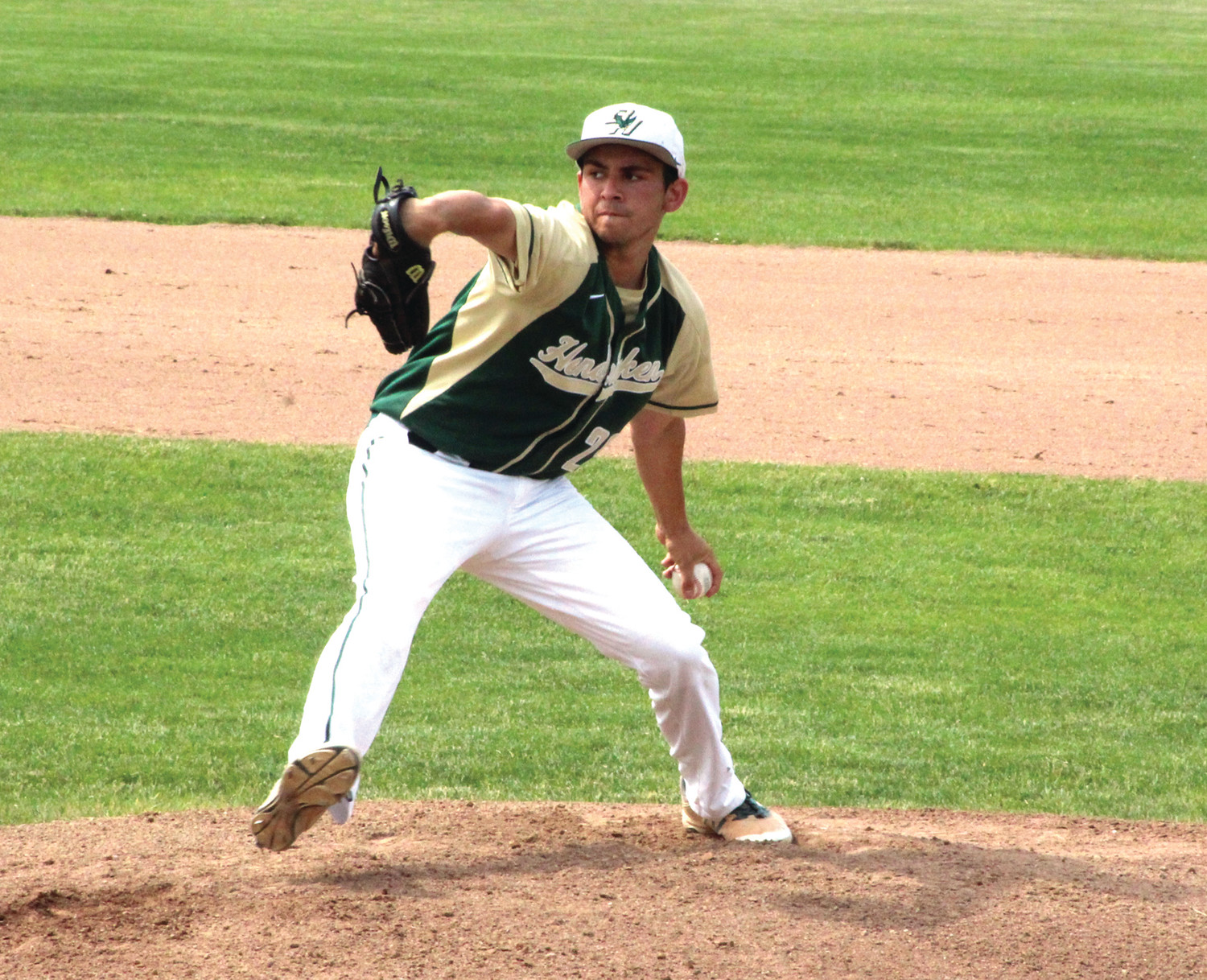 ON THE HILL: Bishop Hendricken pitcher Kyle Marrapese delivers a pitch against Coventry.