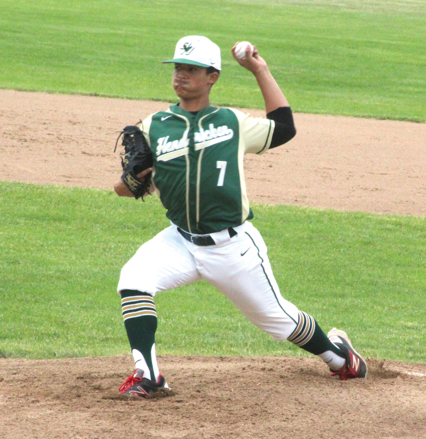 PLAYOFF BASEBALL: Bishop Hendricken's Blake Roberge delivers a pitch.