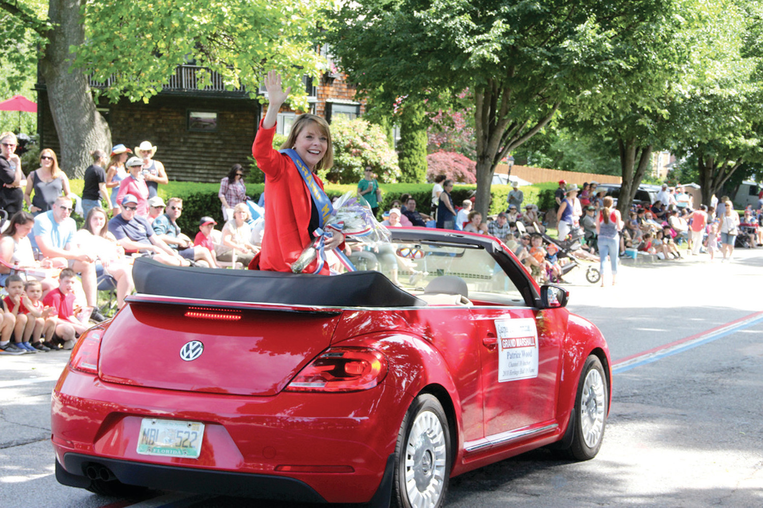 POPULAR MARSHAL: Channel 10 anchor Patrice Wood served as the parade grand marshal.
