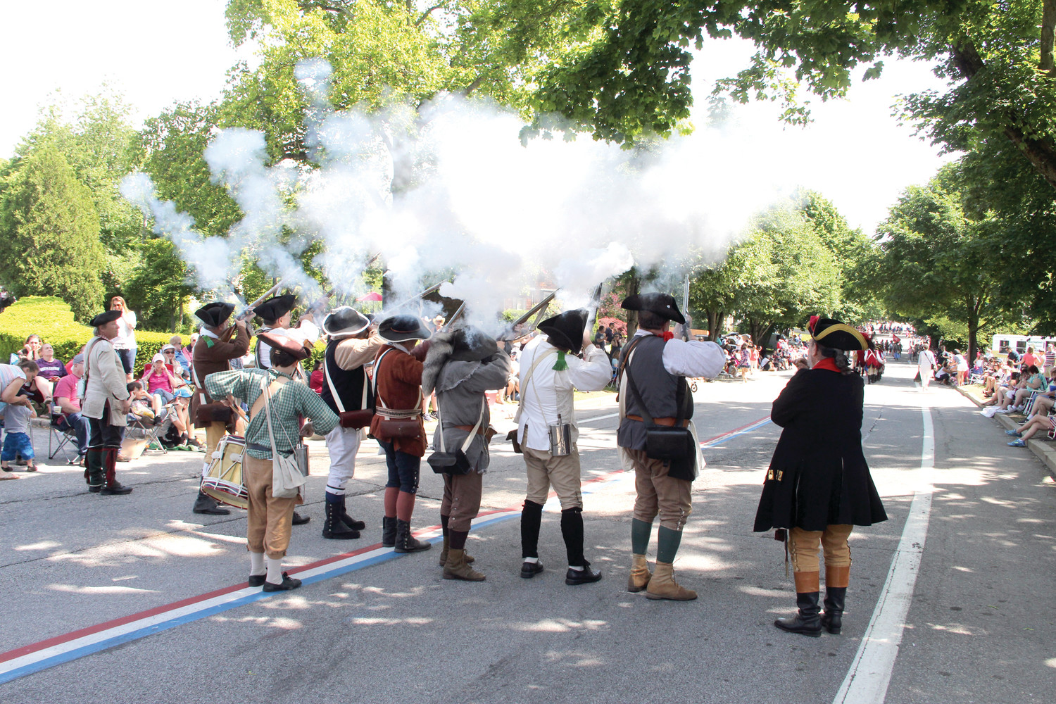 AND WHEN THE SMOKE CLEARED...the Gaspee Days parade carried on.