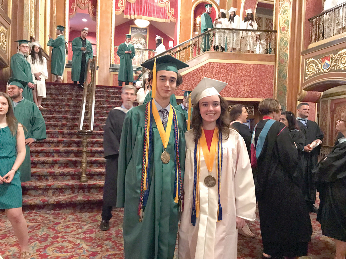 LEADERS OF THE PACK: Salutatorian Nathaniel Hardy and Valedictorian Hannah Joyce are ready to go.