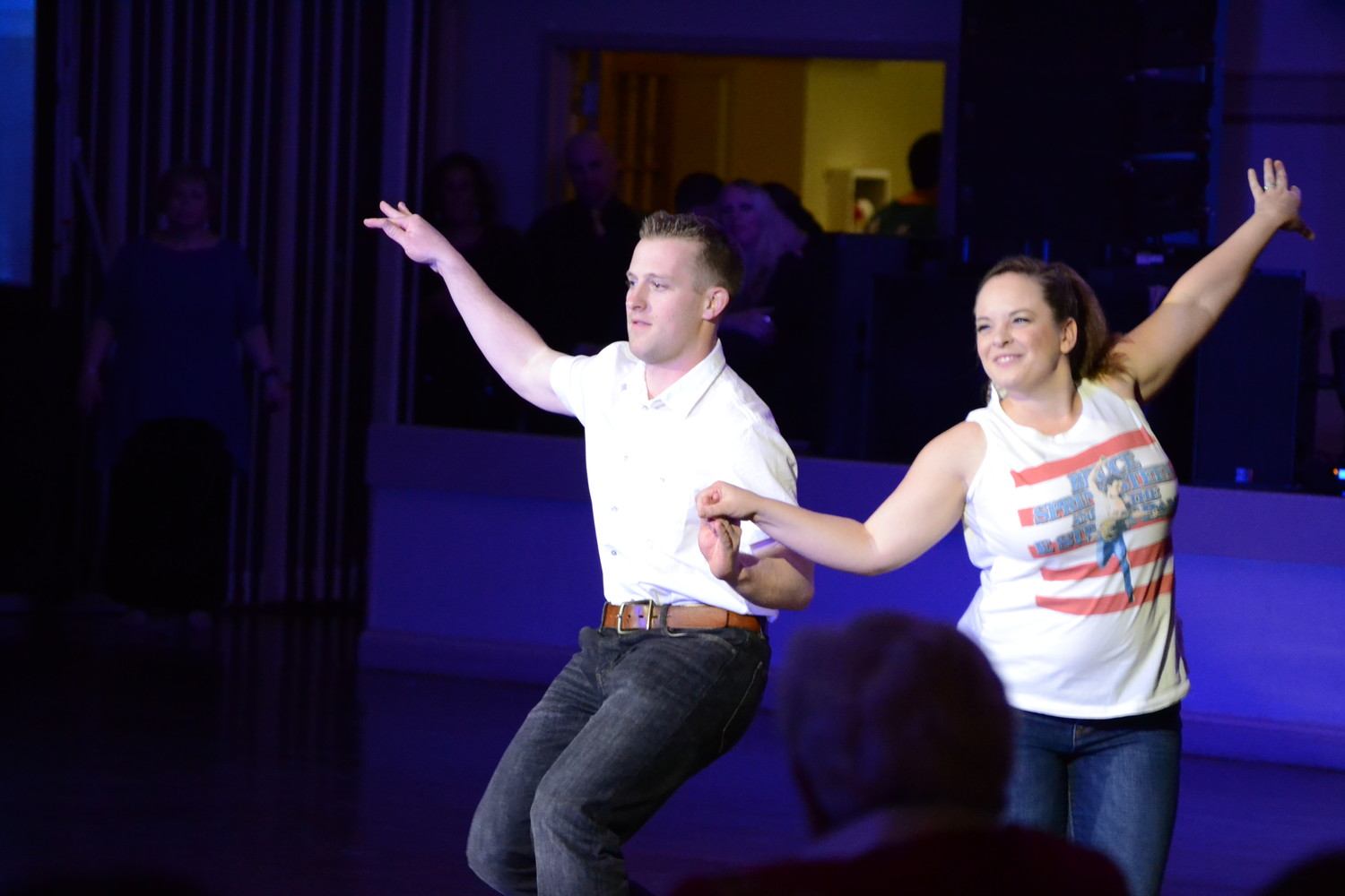 was Joe Bradlee, director of communications and community outreach for the Pawtucket Red Sox, and his partner Briana Crowley were both bosses as they danced through a number paying homage to Bruce Springsteen