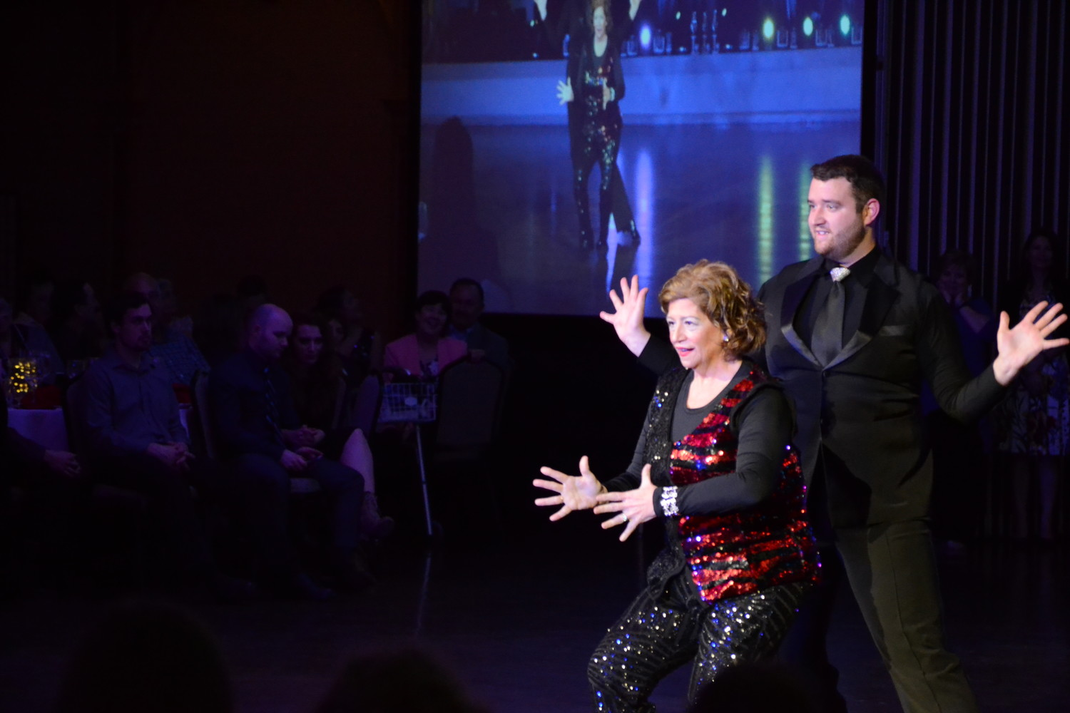Linda Warren of Bank of America and Noah Carsten made good use of jazz hands during their performance, which rounded out the evening of dances.