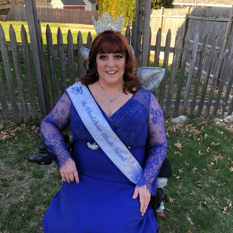 HEART OF A CHAMPION: Tina Guenette Pedersen in full pageant regalia. Pedersen now holds the title of Ms. Wheelchair Rhode Island and is leading the charge advocating for others with disabilities in the state.