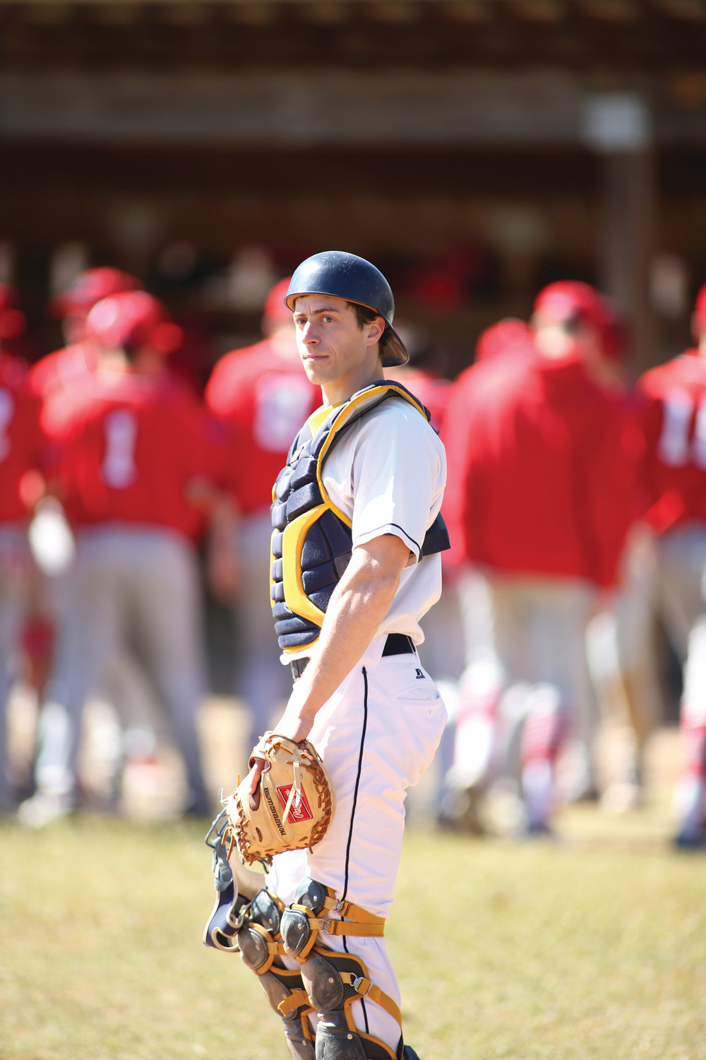 COLLEGE BALL: Warwick native and Toll Gate grad Stefano Muscatelli playing baseball for St. Mary's College of Maryland.