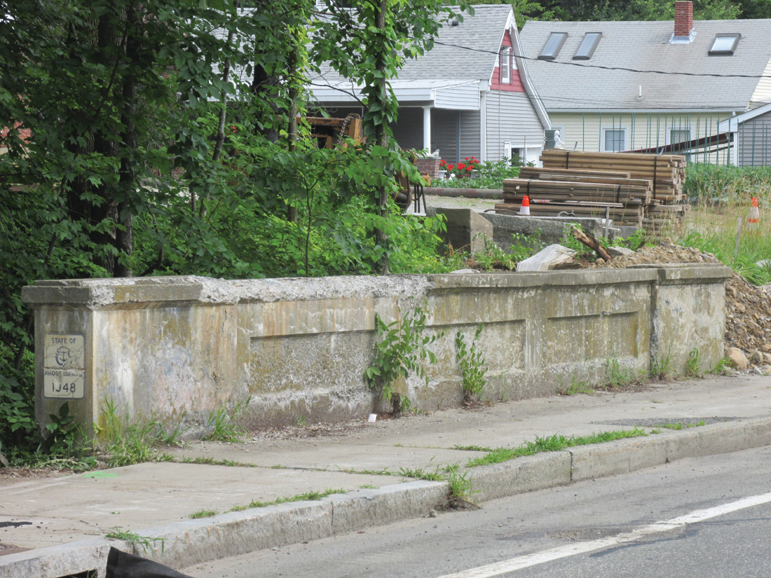 STORIED STRUCTURE: The Simmonsville Avenue Bridge will be closed to traffic beginning Monday in order that the Rhode Island Department of Transportation can completely replace the structure that was built in 1948.