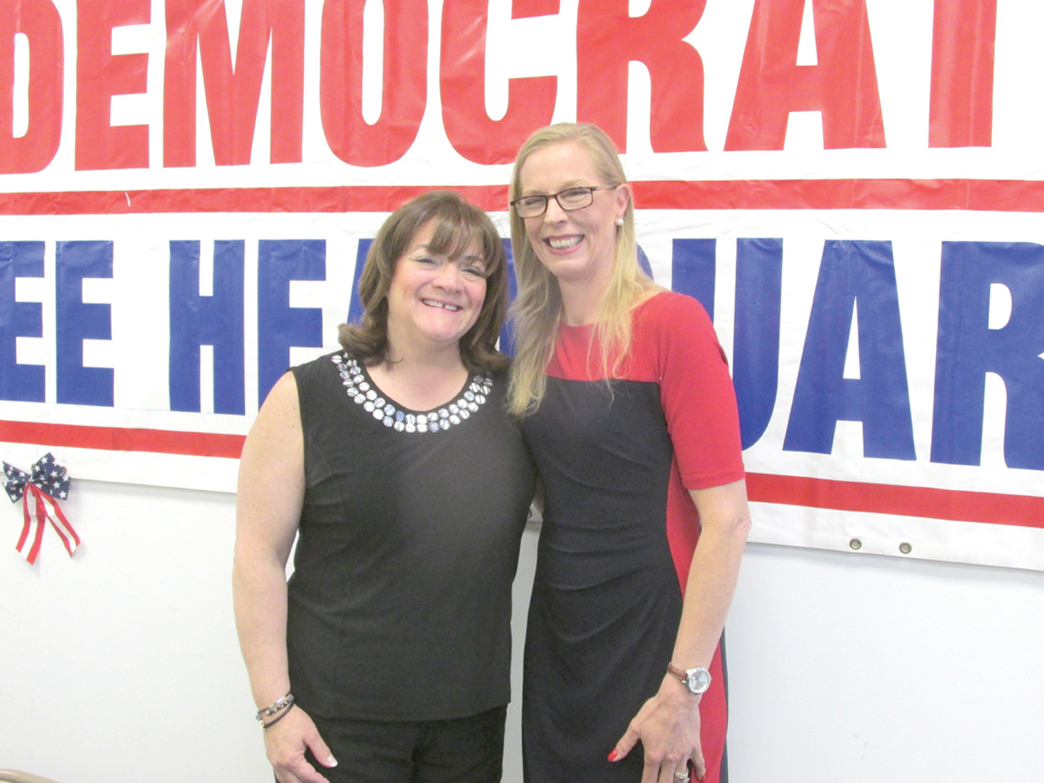 FORMER FIRST: Former Johnston School Committee member Susan Mansolillo has received the JDTC's endorsement for the District 5 seat while Dawn Aloisio, a paralegal ad law office manager, will be the Democratic challenger for the District 5 seat currently held by Gena Bianco.