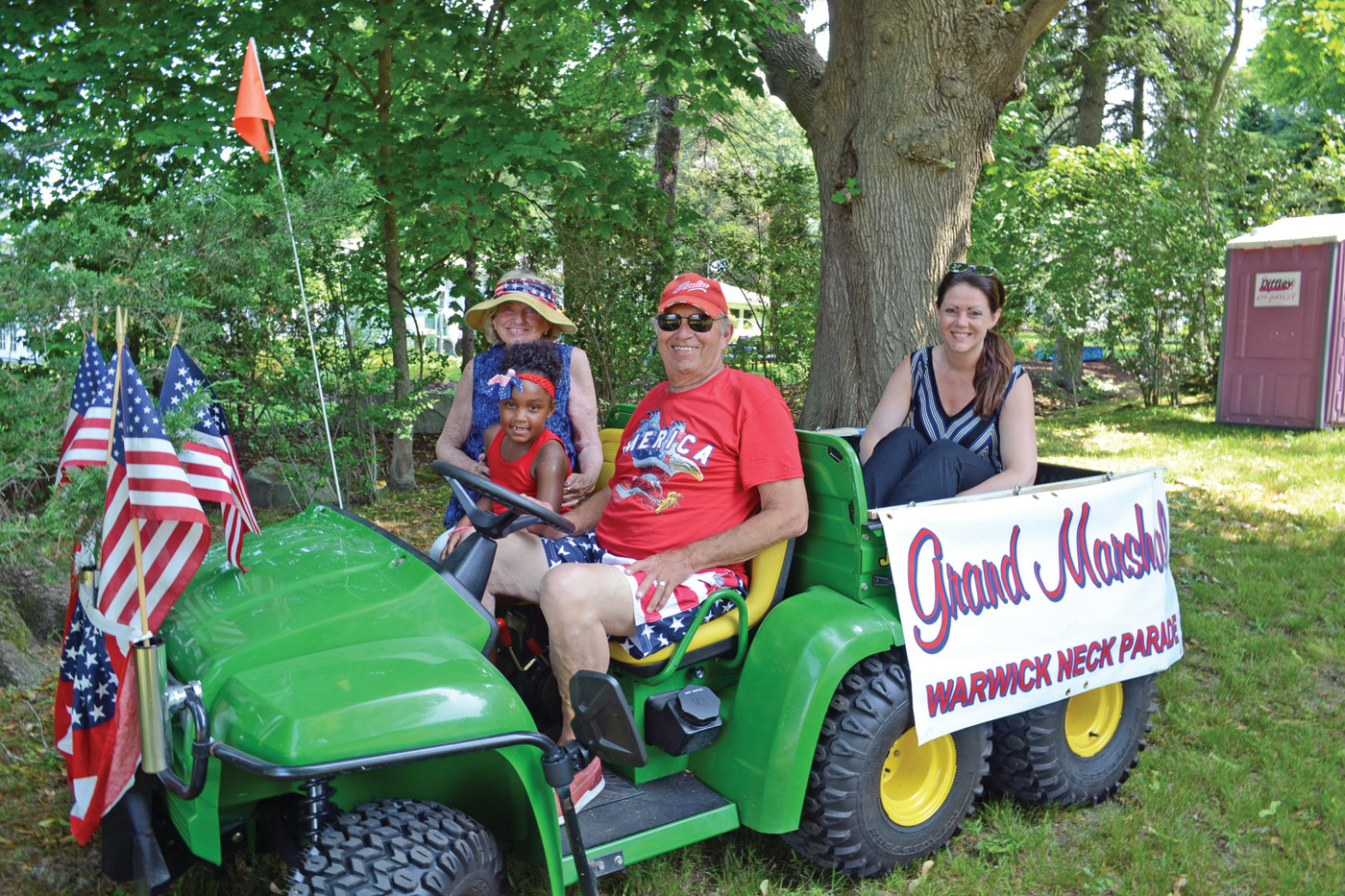 LEADING THE WAY: Parade Grand Marshal Leo Scansaroli, along with his wife Judy and daughter Michelle, weren't exactly sure why they got the nod to lead the parade this year, but were very grateful for the honor.