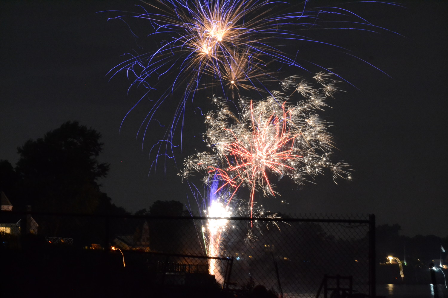 More photos from fireworks displays set off on July 3 in Conimicut.