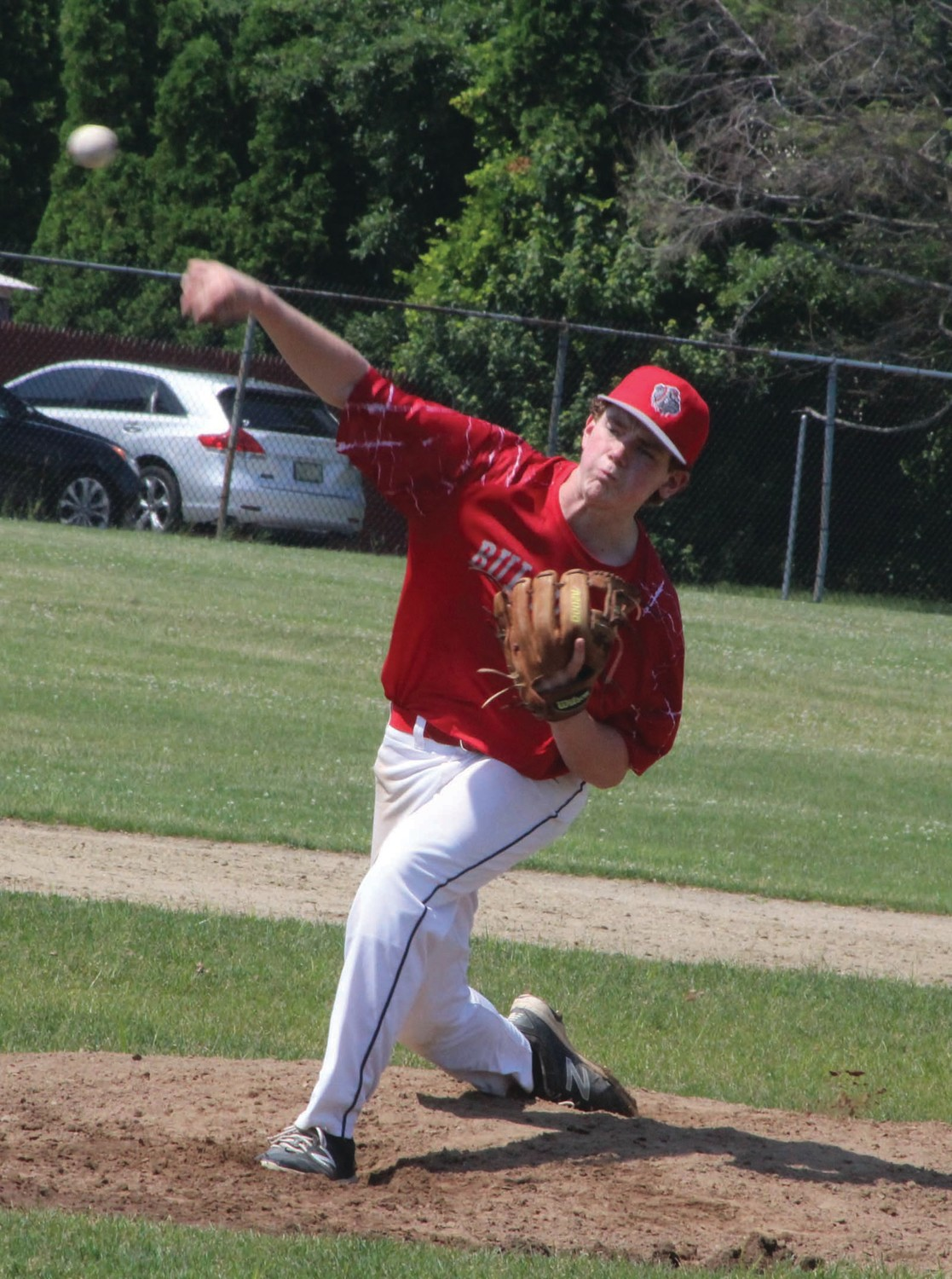 ON THE DIAMOND: Bulldogs pitcher Noah Rennick delivers against Warwick Pal.