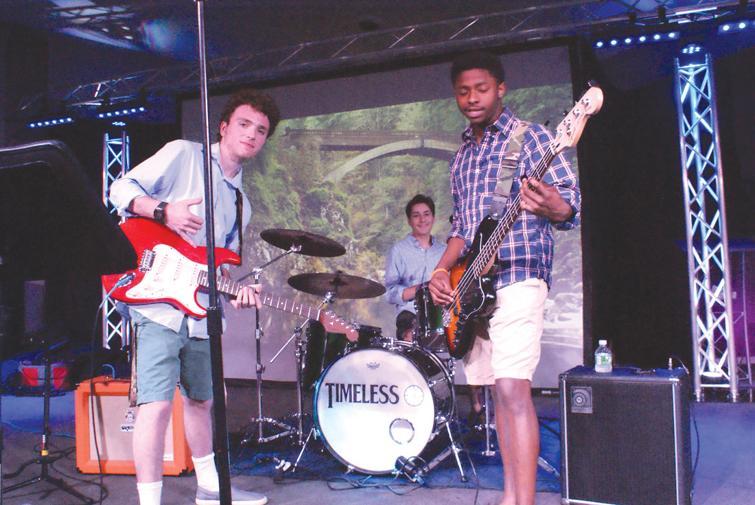 YOUNG PERFORMERS: The band Timeless, who will be performing at the St. Mary's Feast this weekend, consists of 18 year-olds Cross Pistoccio and Ja-meer Pina and 17 year-old Nicolac Williams, who is on the drums.