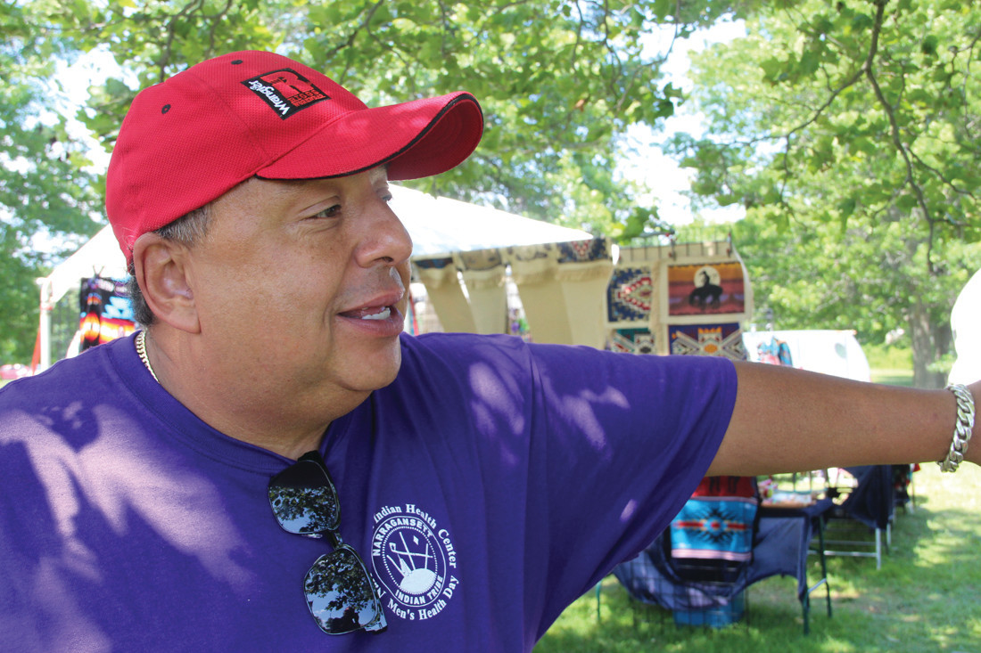 Darrel Waldron, Director of the Rhode Island Indian Council and recently named Chief of the Wampanoag Tribe.