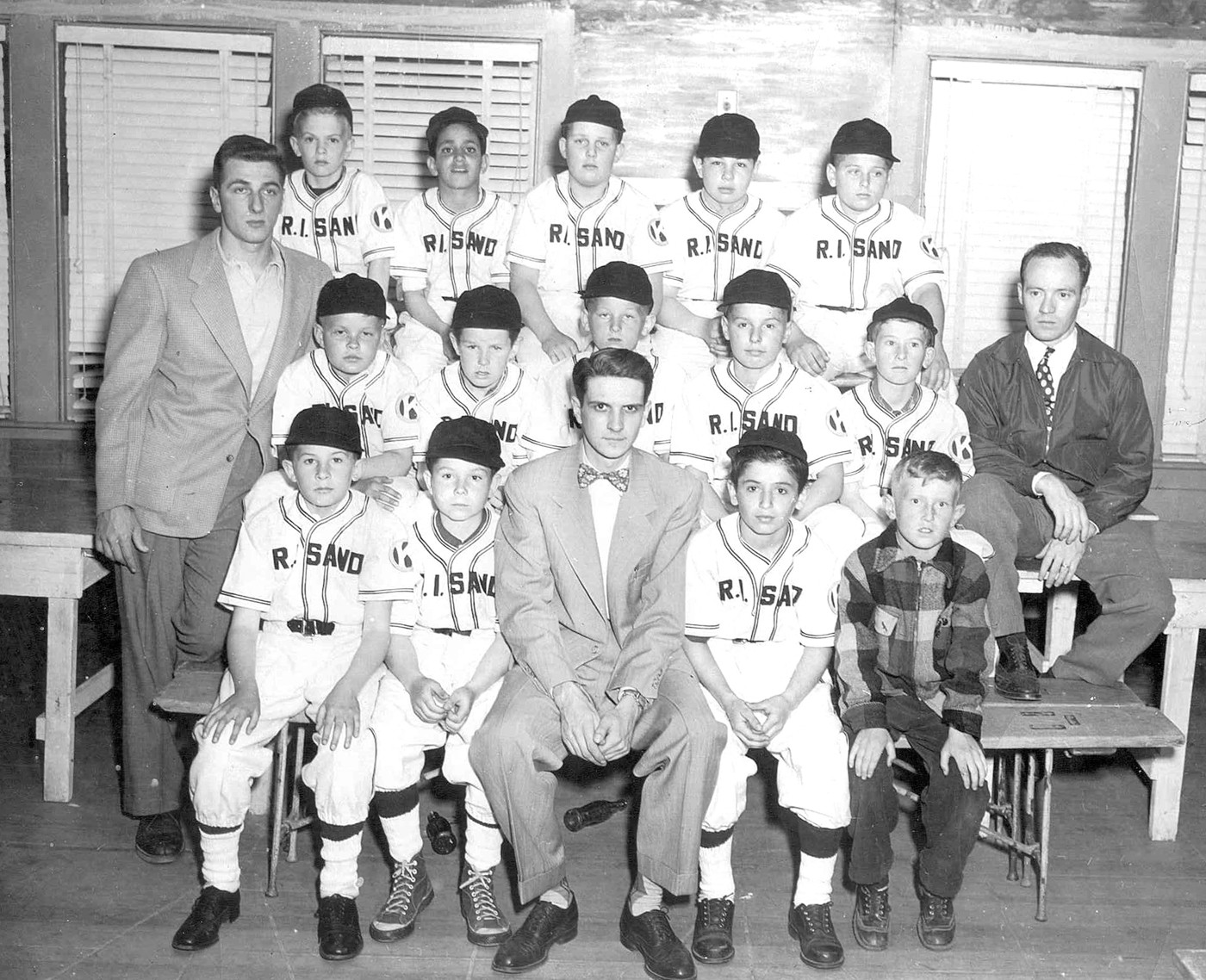 GREAT COACHING KEY TO SUCCESS: John Kindl, an 11 year-old at the time, is seated second from the left, bottom row, arguably the smallest player on the team. He said he had great coaches in little league.