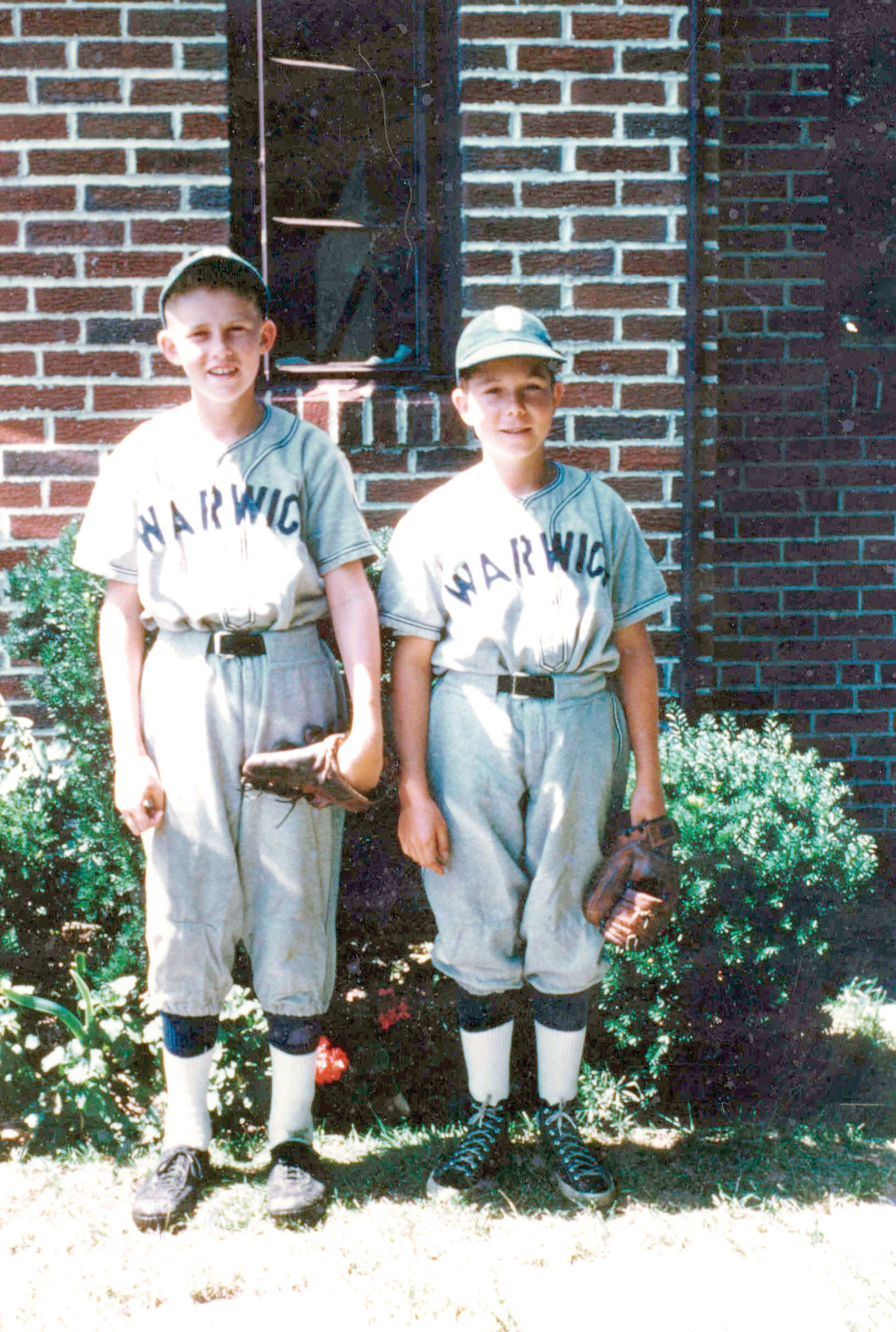 LITTLE LEAGUE BEGINNINGS: Buddy Allenson, and John Kindl, right, played little league ball together for Warwick in the early 1950s. The Warwick 1954 All-Star team won the Rhode Island Little League Championship over Westerly, in a game that drew 1,100 fans.