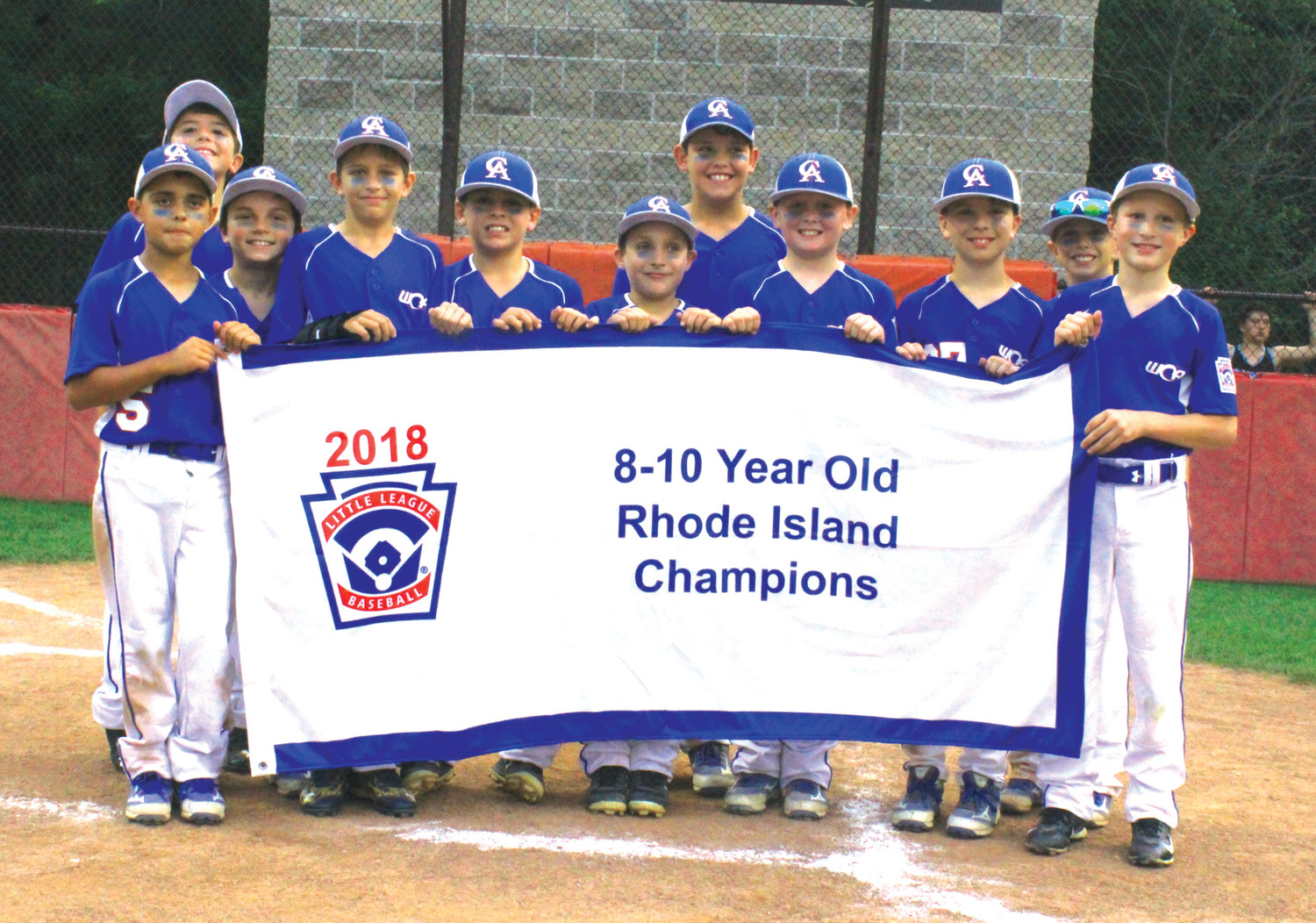 STATE CHAMPS: The Warwick Continental American 8-10 year old All-Star team after winning the state championship.