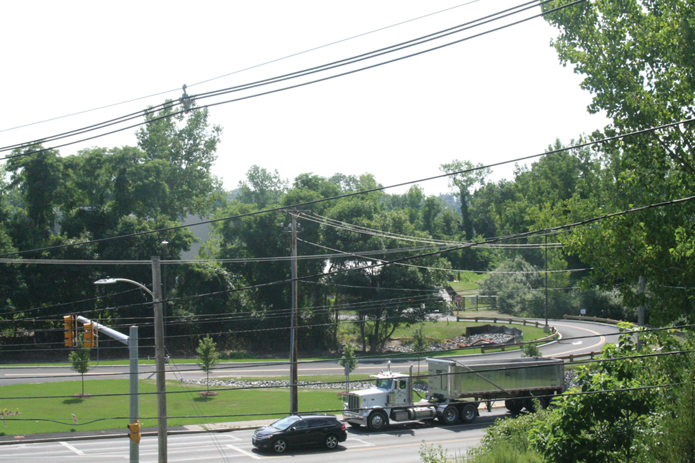 THE SITE: The CubeSmart location is across the street on Phenix Ave., and the sign would be seen from this view, on Phenix, and from Routes 295 and 37.