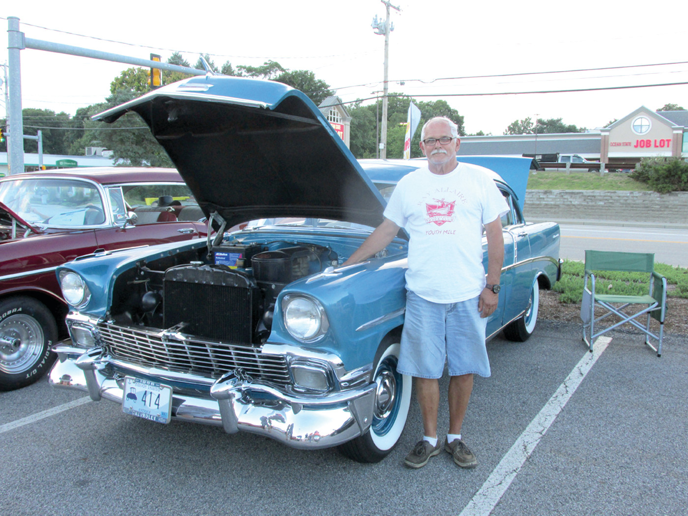 CHUDDY'S CHEVY: Rodman Chuddy, who lives in Burrillville, is the proud owner of this 1956 Chevrolet 210 that's an excellent example of the quality of vintage vehicles that sow up for Thursday night's Cruisin' for a Cause in Johnston