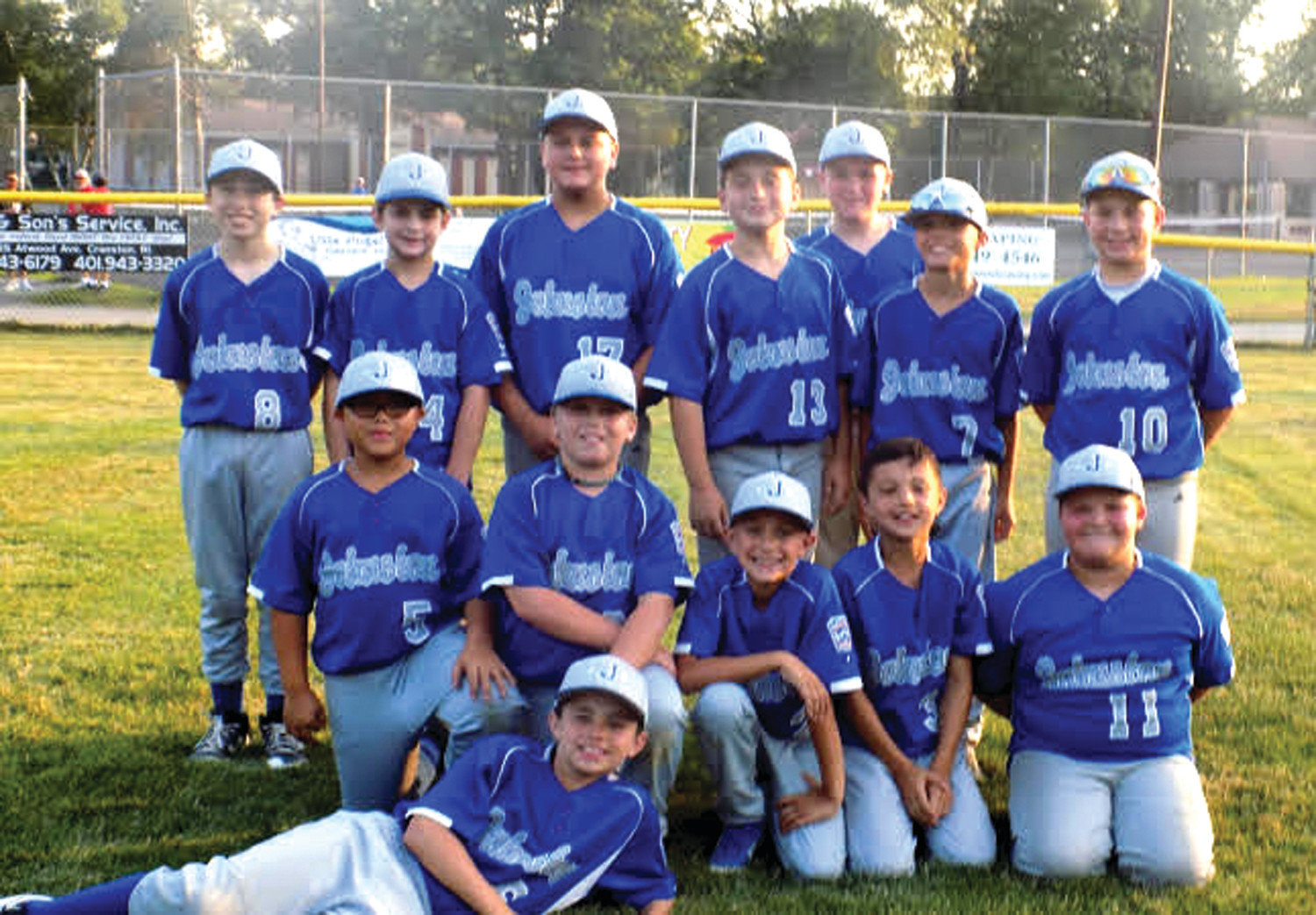 SUPER SQUAD: The Johnston Little League's All-Star Team that was made up of players ages 10 and 11, included in bottom row from left: Antonio Morales, Brady Murray, Ron Vento, Jayden Allard, Nick Testa and Michael Allard. Top: Nick D'Aquila, Jason Schino, Preston Marchessealt, Matt Clements, Logan Martins and Dean Paris. (Submitted photo)
