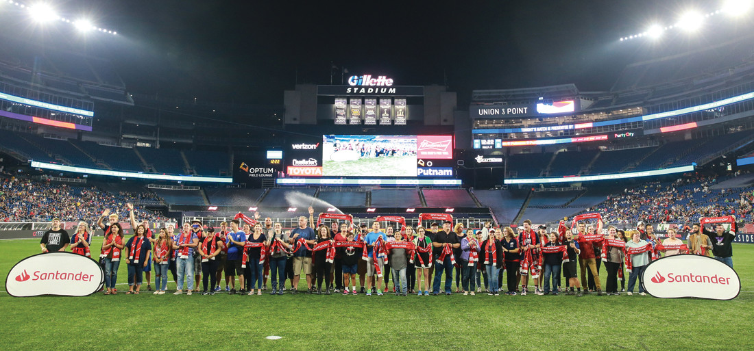 AWARDED: Nearly 100 New England area educators were recognized during Teacher Appreciation Day at Gillette Stadium.