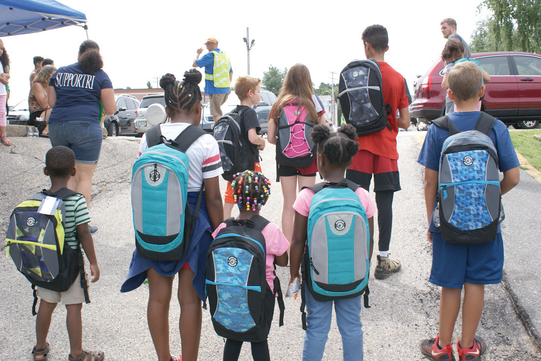 READY FOR SCHOOL: In total, Back To School Celebration RI had 1,100 backpacks full and ready to distribute for free outside the Cranston YMCA. Within the first hour, approximately 350 were already handed out during the three-hour event.