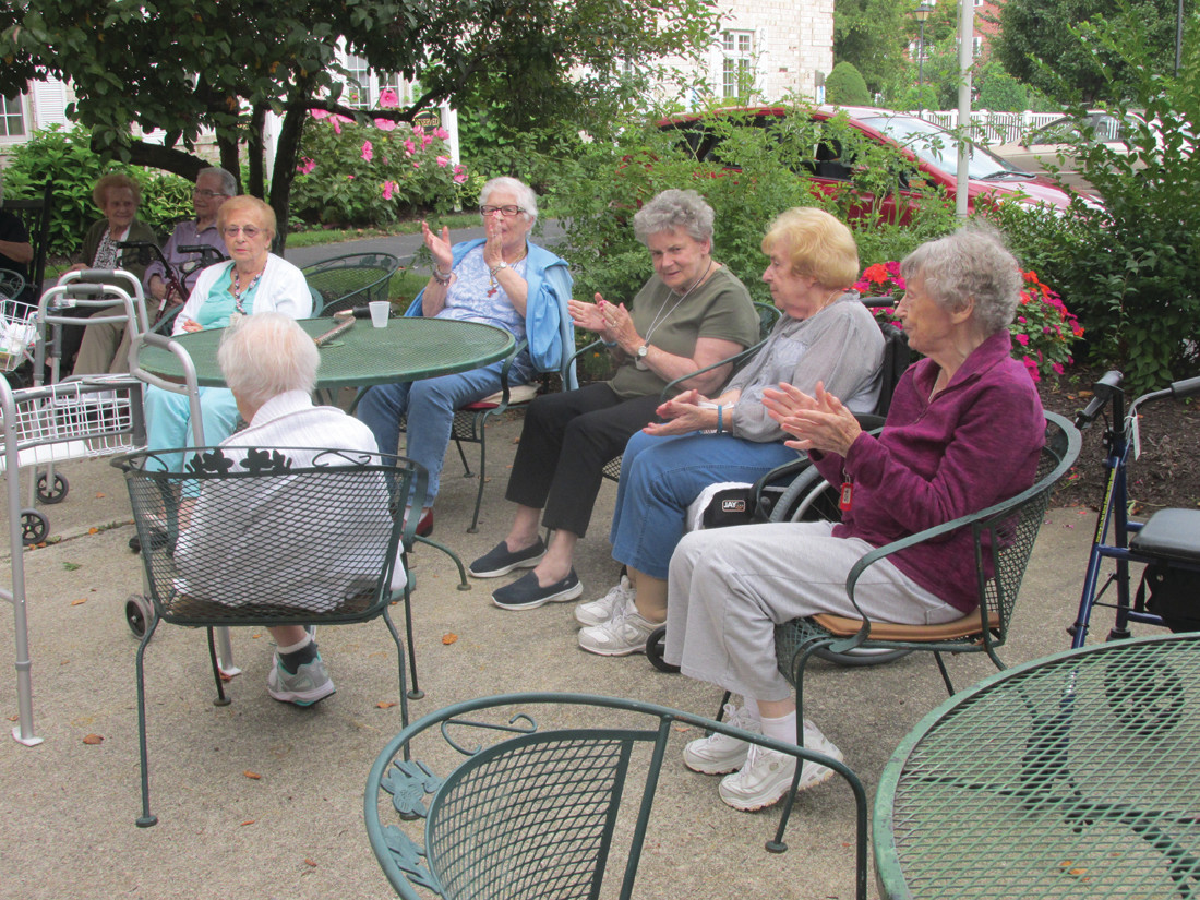 MUSIC LOVERS: These are some of the many residents at The Bridge at Cherry Hill who enjoyed Tuesday night's concert and special singing of entertainer Jay Slick.