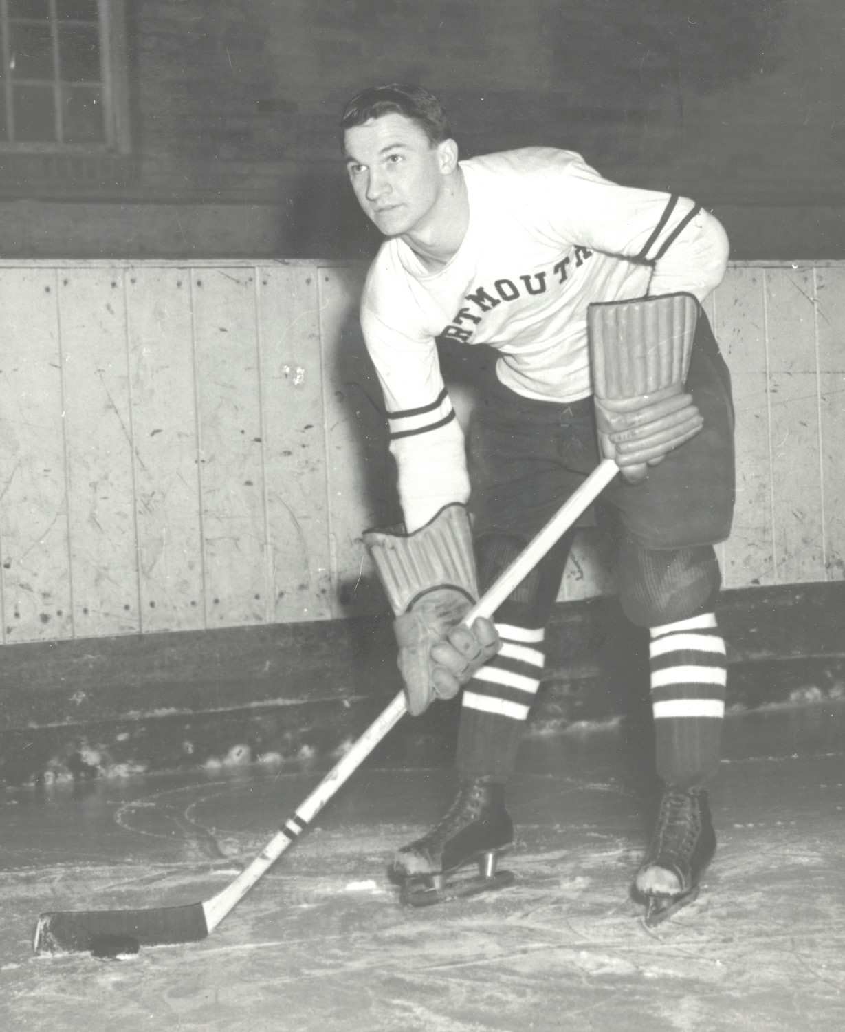 SUPER SCORER: Cranston native Ralph Warburton helped Dartmouth College become one of the nation's most powerful hockey programs back in the 1940s. (Submitted photo)