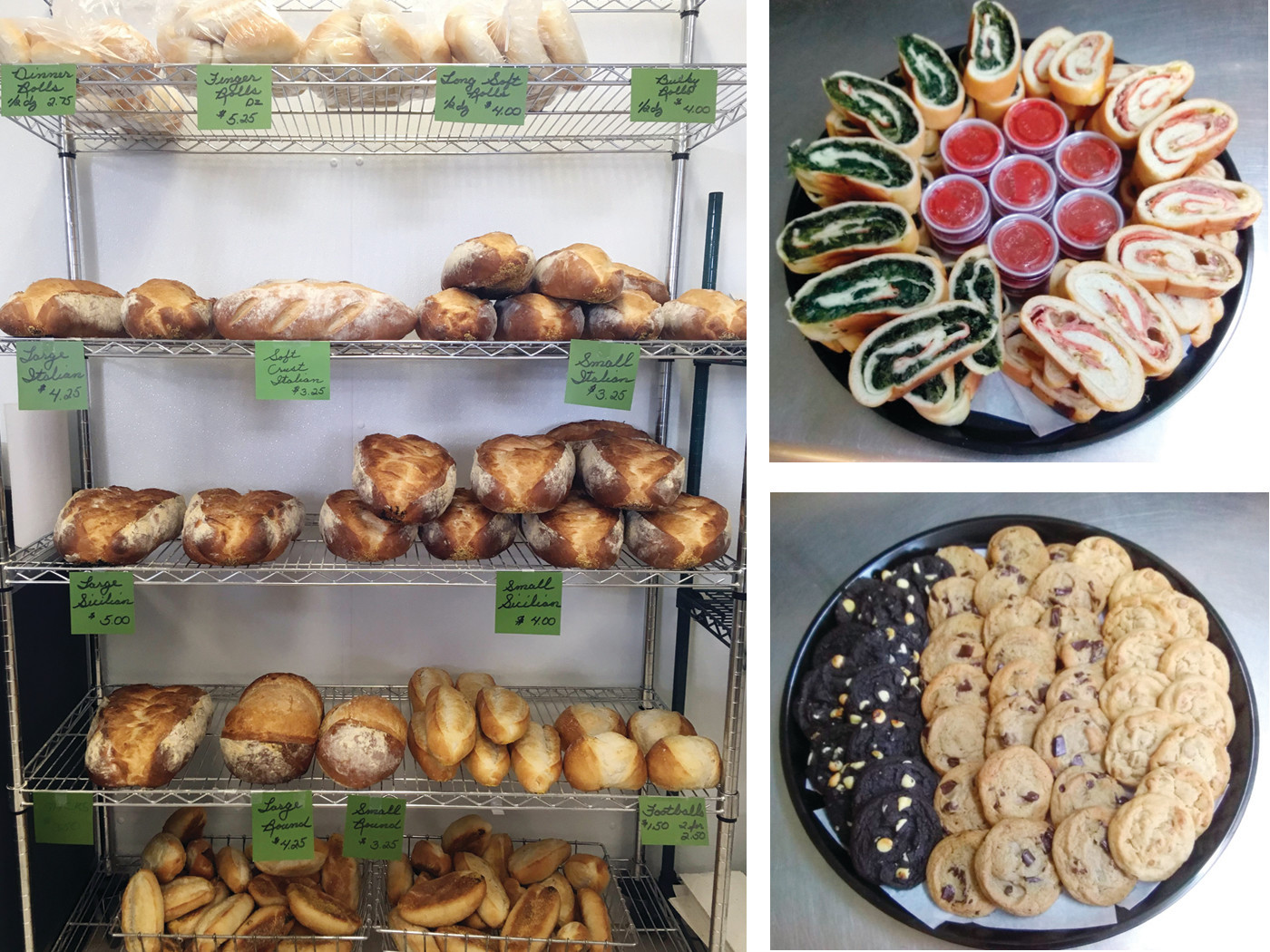 Come load up on loaves of homemade bread or order your party platter of calzones or cookies  from Juliana's Italian Bakery ~ just in time for football and back-to-school season! Call 401-771-8934 to ask about the seasonal discounts!