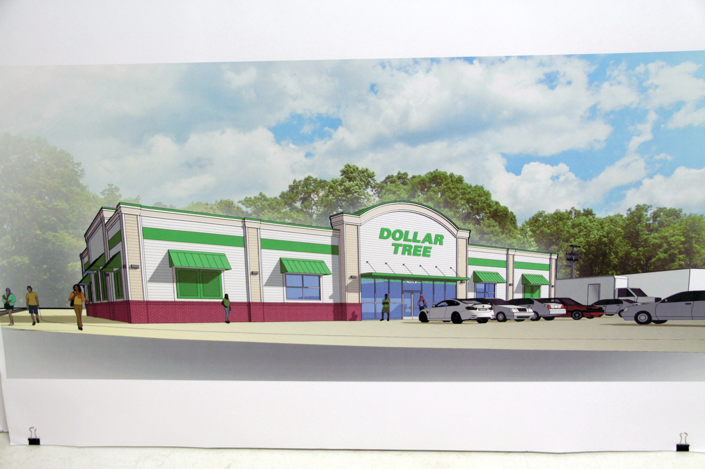 WHAT'S PROPOSED: A rendering of the 9,000-square-foot Dollar Tree that developers plan to build on Warwick Avenue.