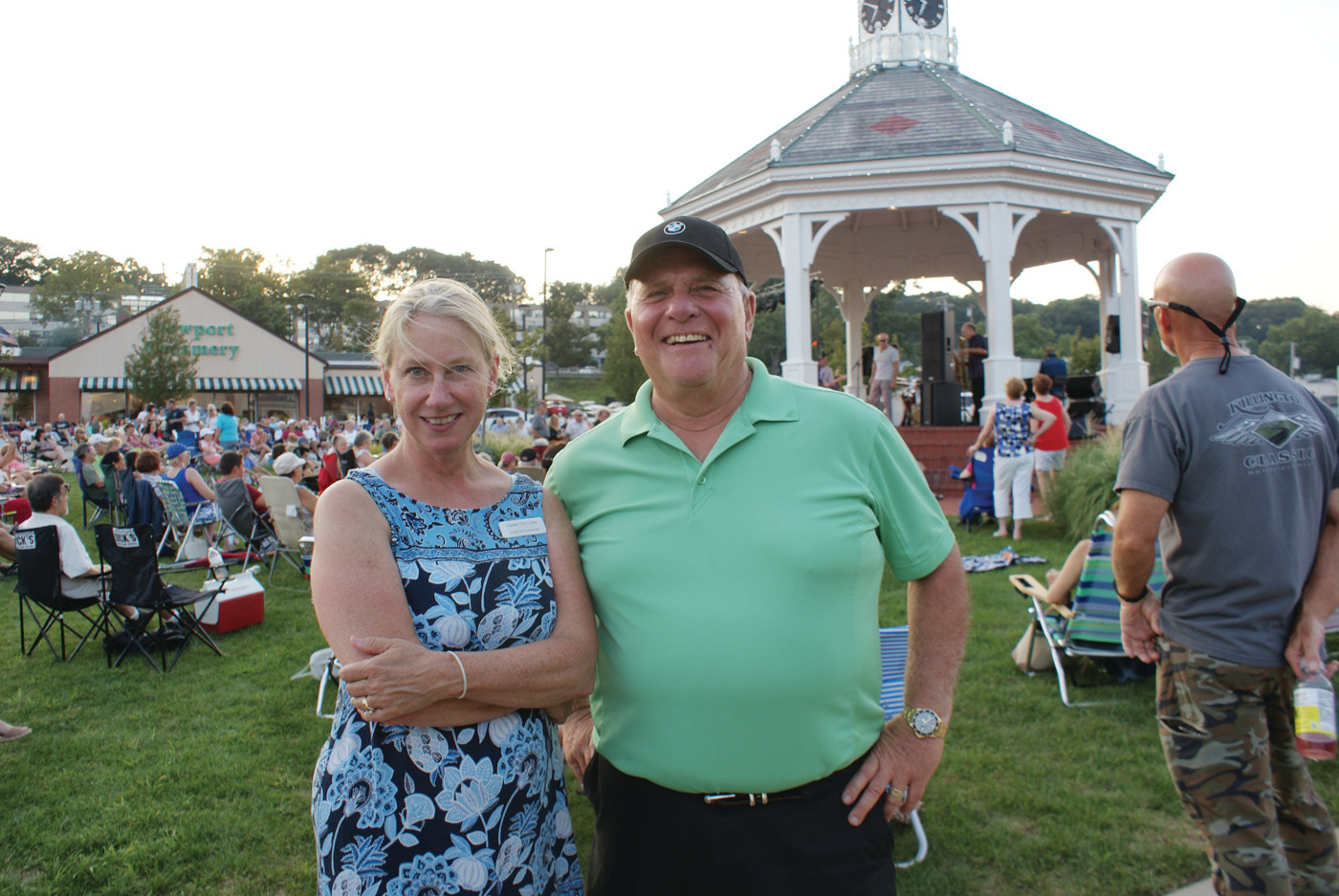 SERIES COORDINATORS: Pictured are Janice Pascone, Marketing Director for Garden City Shopping Center and Producer Paul Borrelli who brought the Summer Concert Series to the public for free every Wednesday evening throughout the summer.