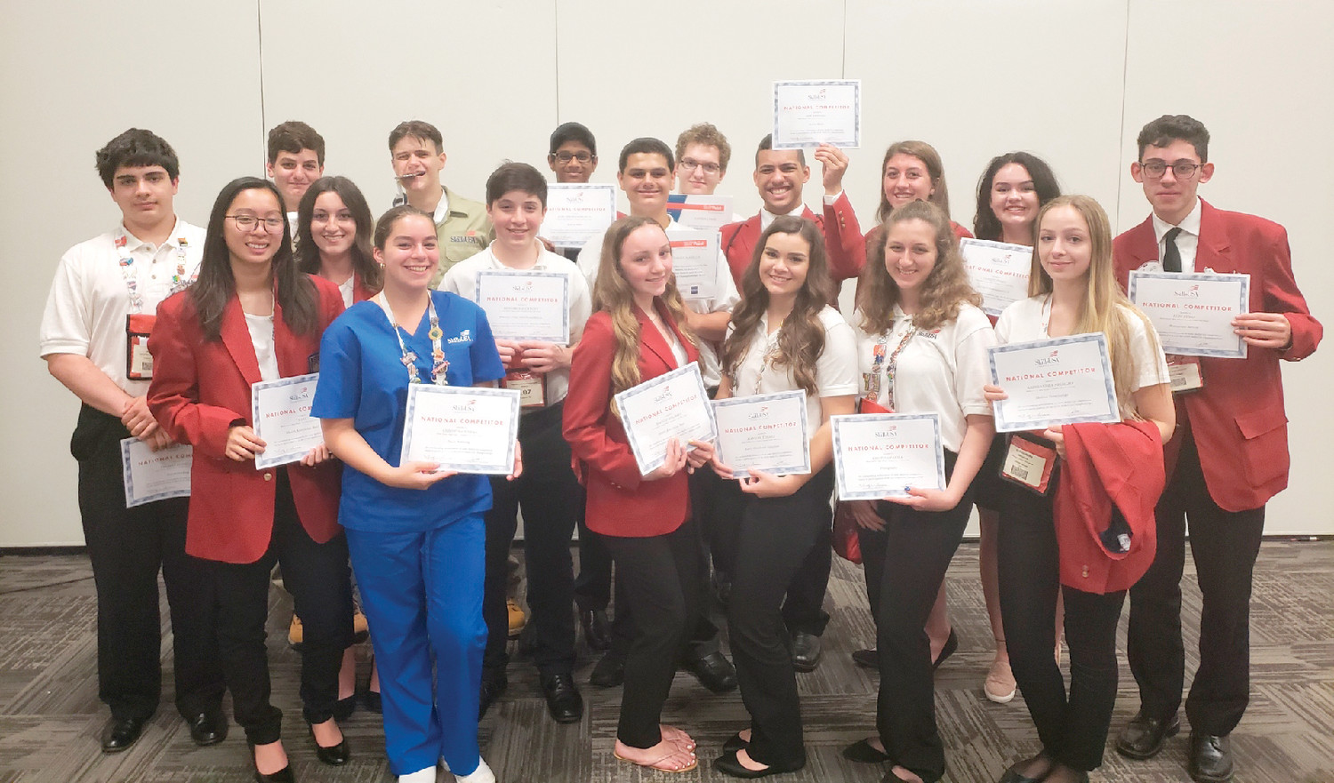 ALL WINNERS: The 24 students who attended the SkillsUSA national competition in Louisville, Kentucky this summer all placed in the top 25 spots, having competed with the best-of-the-best in their programs, nationwide.