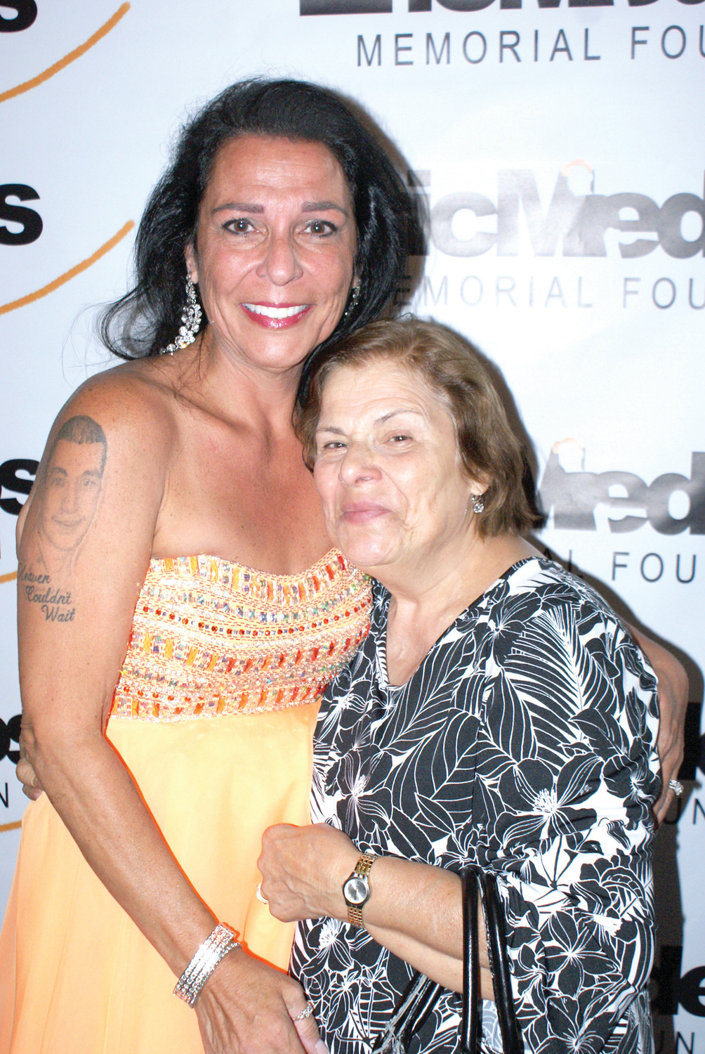 FAMILY MATTERS: Esmeralda Casador posed with her daughter Anna Casador at the Annual Eric Medeiros Memorial Foundation Gala held at Spain Restaurant in Cranston on Sept. 4. Money raised at the Gala is distributed among local charities.