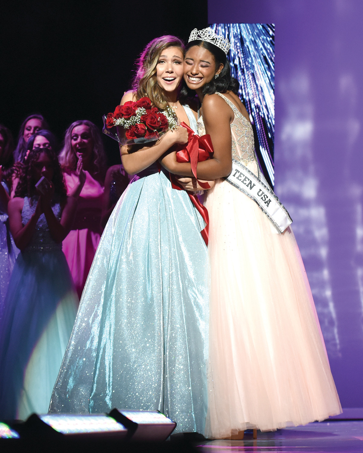 LEFT SPEECHLESS: Olivia Volpe, a senior at Cranston West and the newest Miss Teen Rhode Island, was crowned on Sunday afternoon by the previous Miss Teen RI, Aliyah Moore.