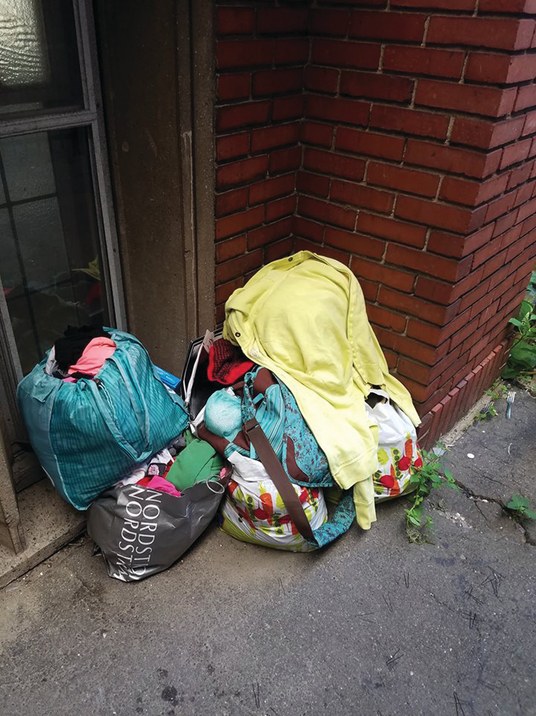 WHERE HAS SHE GONE? These bags of personal items in an alleyway were all that Kelly could find when she recently went looking for her daughter.