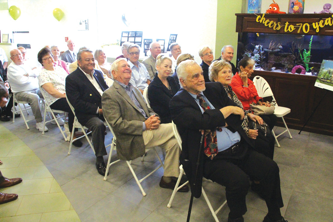 FAITHFUL MEMBERS: A group of longtime Greenwood Credit Union members turned out to Thursday's 70th anniversary celebration.