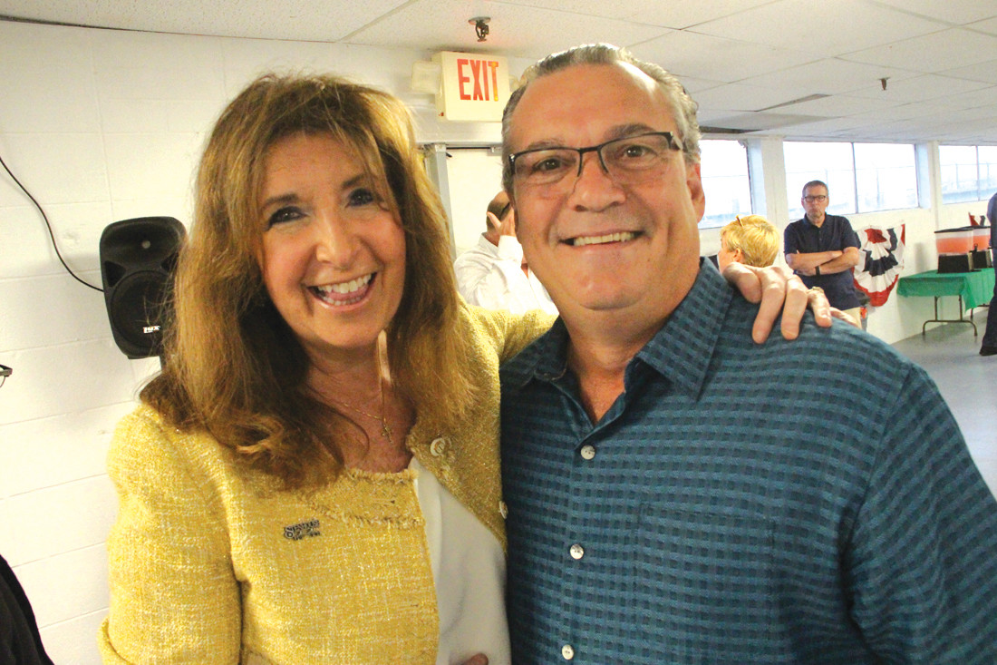 AT HEADQUARTERS OPENING: Former Democratic City Council President Donald Torres made an appearance at the opening of Stenhouse headquarters Friday. Sue Stenhouse, the Republican candidate for mayor, served on the council with Torres.