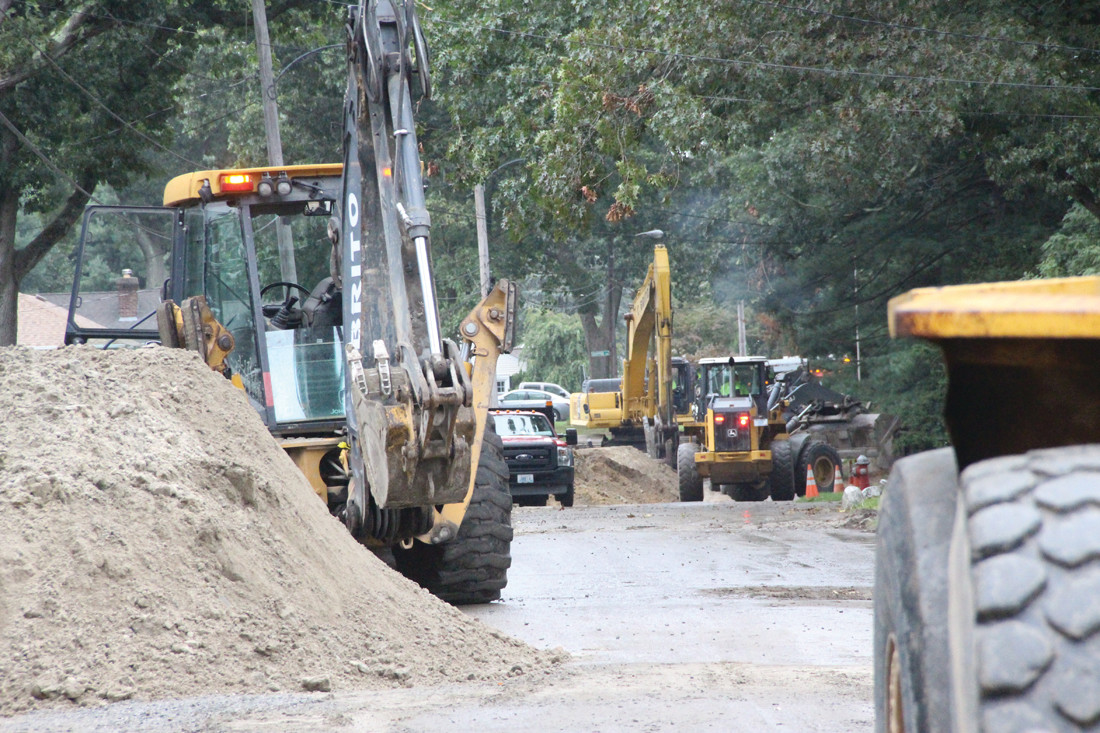 CROSSING THE HALFWAY POINT: Heavy equipment, detours and trenches have become a way of life for some Governor Francis homeowners, but the good news is that the sewer project started in the spring is now 60 percent completed.