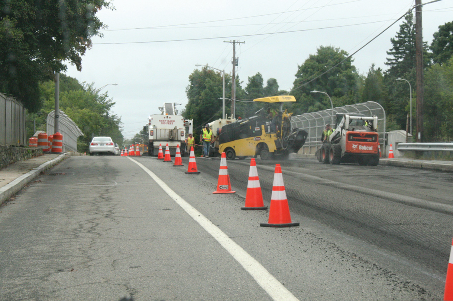 IT'S STARTED: The milling of Hartford Avenue in preparation of repaving an estimated 8 miles of the road started this week. The $3.3 million program is projected to be completed by the end of October.