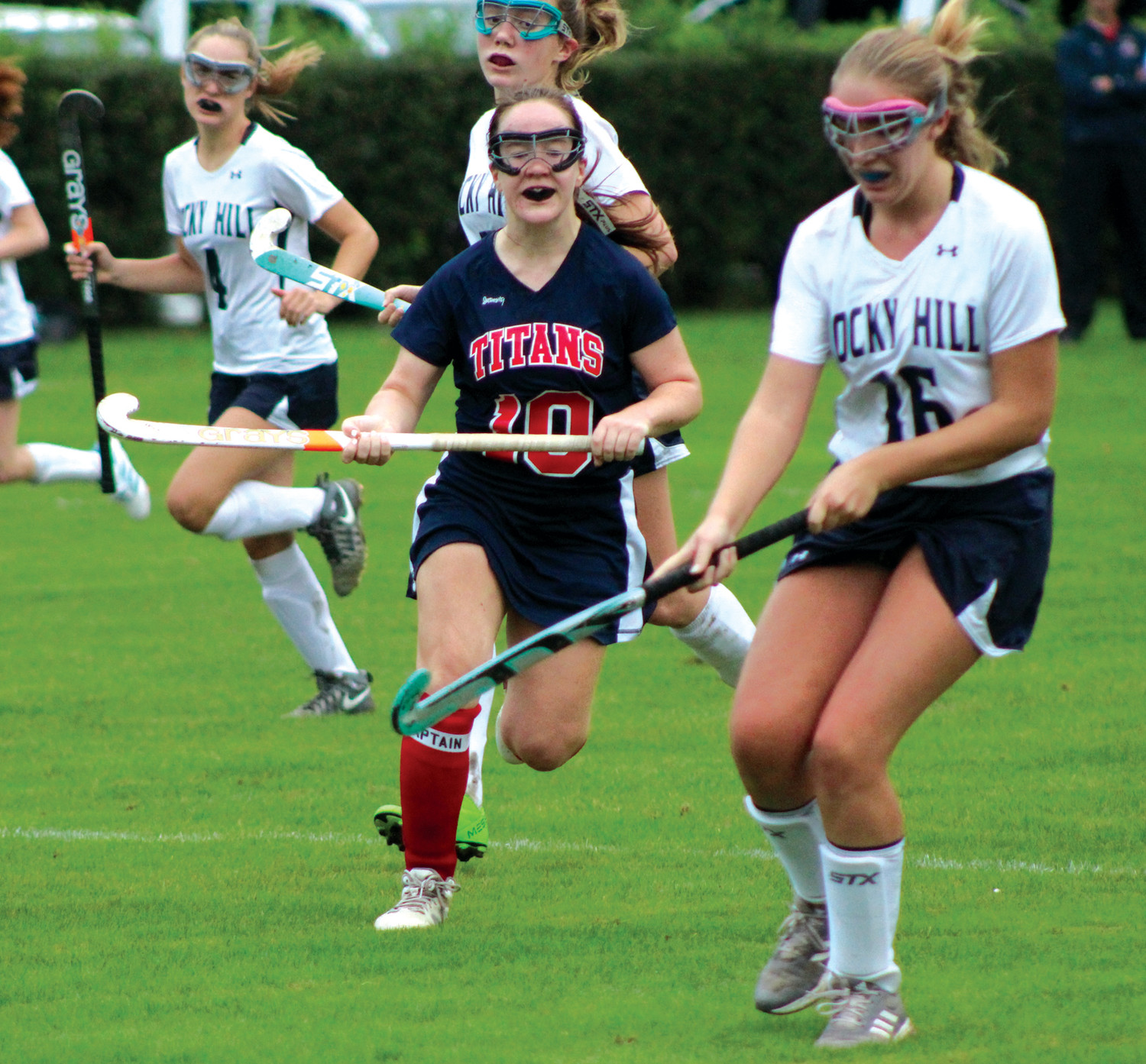 GETTING AFTER IT: Toll Gate's Nicole Procaccini tracks down the ball.