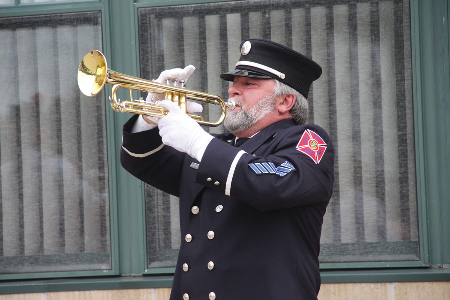 FINAL NOTES: Retired WFD Lieutenant Steve Cahoon played taps.