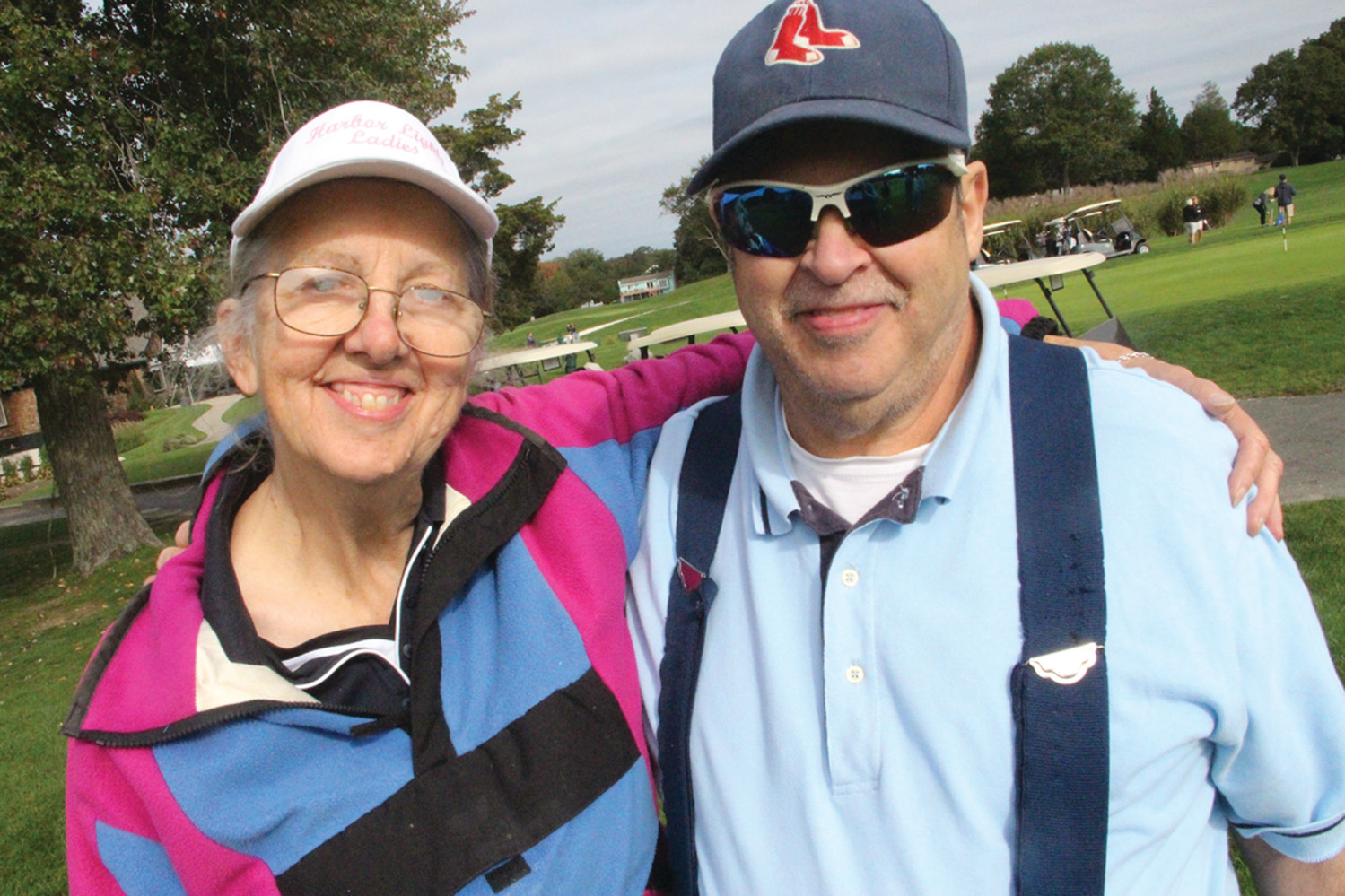THERE FOR ROY: Roy Ellsworth and his sister, Pat Jankowski, pose before the shotgun start to Roy's Day at Harbor Lights.