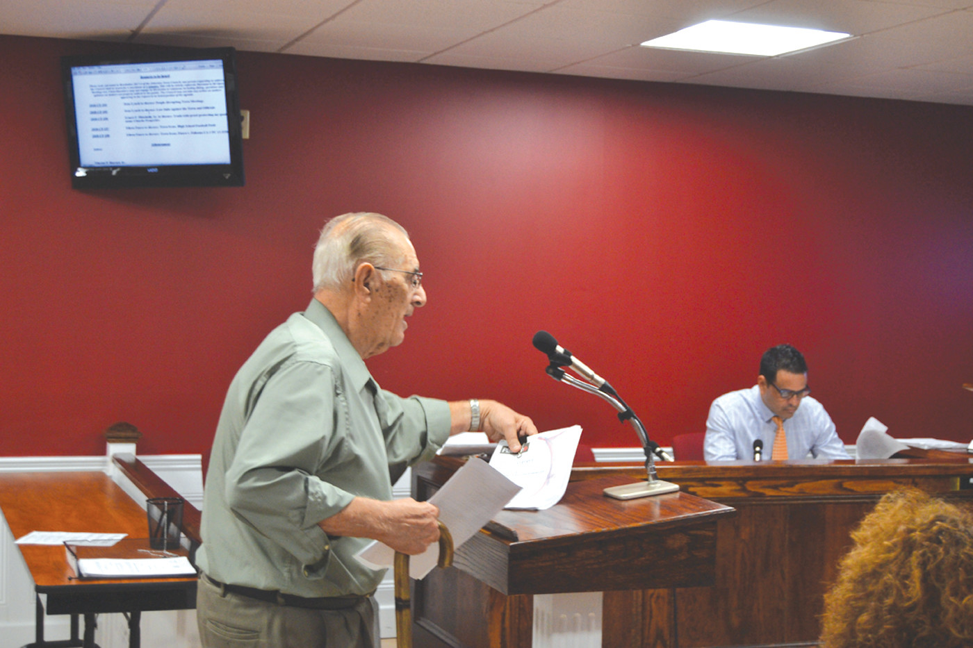 CLEARING HIS NAME: Former Councilman Ernest Pitochelli addressed claims made against him during recent Council meetings.
